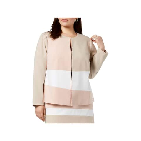 Calvin Klein Womens Plus Jacket Colorblock Professional - 16W