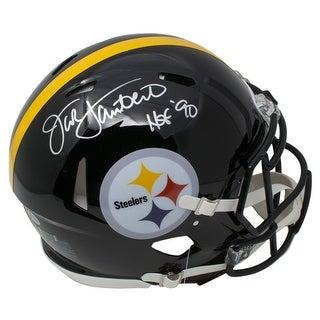 Jack Lambert Signed Pittsburgh Steelers Full Size Spd Replica Helmet HOF 90 BAS