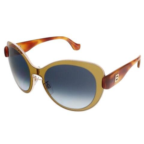 Balenciaga BA0002S 45W Mustard Gold/Blonde Havana Round sunglasses - 56-19-140