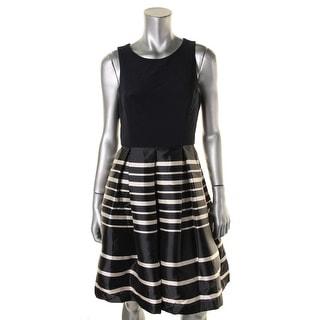 Eliza J Womens Casual Dress Striped Sleeveless - 8