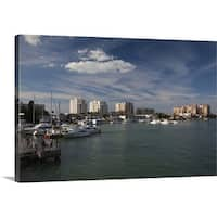 Premium Thick-Wrap Canvas entitled Boats at a harbor, Clearwater Beach, Pinellas County, Florida - Multi-color