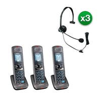 Uniden DCX400-3 with Headset 2 Line DECT 6.0 Extra Handset