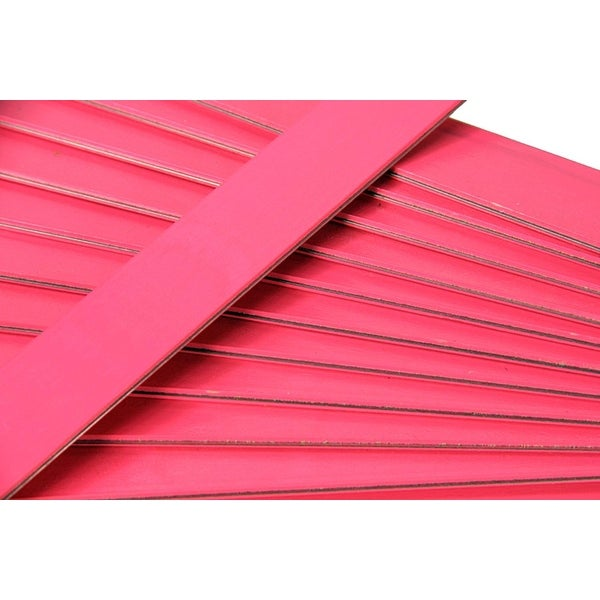 25 Hot Pink Colored Wooden Straight Edges with Metal Strips Office Supplies - 12""