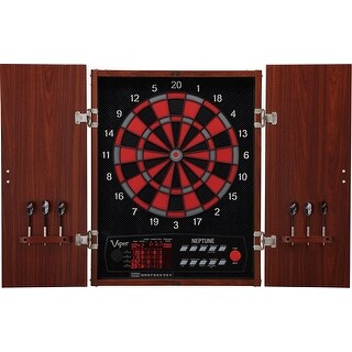 Viper Neptune Regulation Size Soft Tip Electronic Dartboard with Wood Cabinet