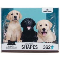 """Jigsaw Shaped Puzzle 362 Pieces 26""""X16.25""""-Puppies"""