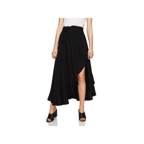 1.State Womens Wrap Skirt Ruffled Maxi