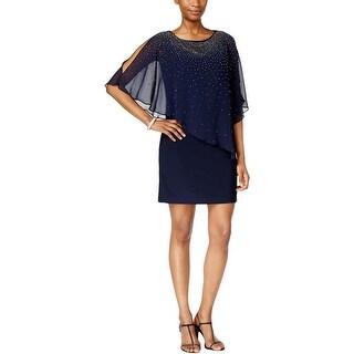 Xscape Womens Capelet Dress Overlay Beaded