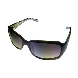 Ellen Tracy Womens Sunglass 500 03 Dark Green Rectangle Fashion Plastic, Gradient Lens