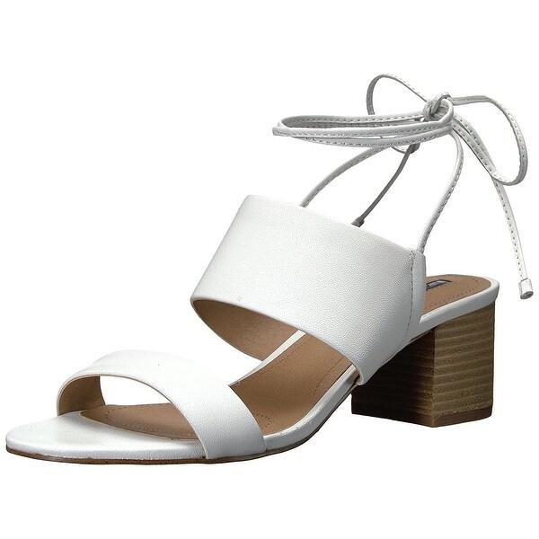 Tahari Women's Ta-Doe Heeled Sandal, White, Size 5.0