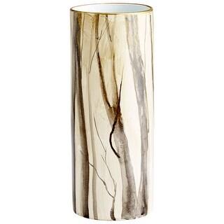 "Cyan Design 09876  Into The Woods 6-1/2"" Diameter Ceramic Vase - Woodland"
