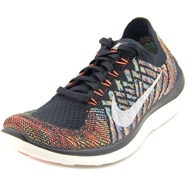 Nike Free 4.0 Flyknit Women Round Toe Synthetic Black Running Shoe