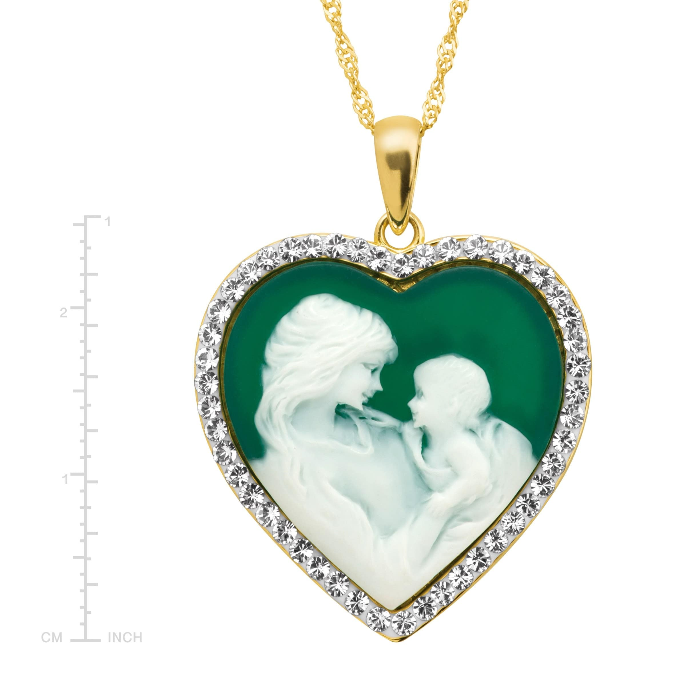 """GOLD PLATED CAMEO LOCKET PENDANT NECKLACE 16/"""" OR 18/"""" CHAIN FOR CHILD OR ADULT"""