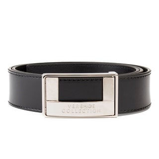 Versace Collection Men's Stainless Steel Buckle Leather Belt Black (4 options available)
