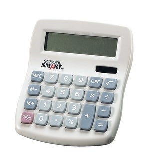 School Smart 8-Digit LCD Dual Power Calculator, 4-1/4 x 1-1/8 x 5 Inches