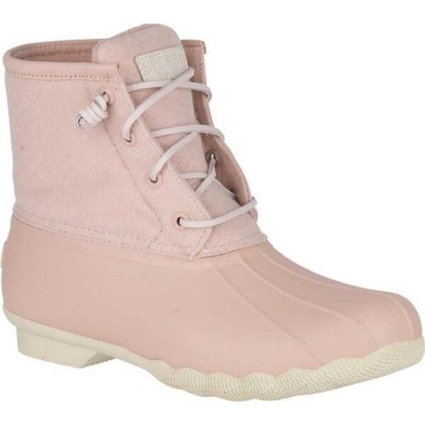 a93379e1a698 Shop Sperry Top-Sider Women s Saltwater Duck Boot Rose Dust Wool ...