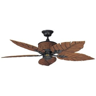 "Concord 52FEB5 Indoor/Outdoor 5 Blade 52"" Ceiling Fan - Blades and Down Rod Included - from the Fernleaf Breeze Collection"