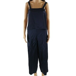Nikki Chasin NEW Navy Blue Women's Size Medium M Popover Jumpsuit