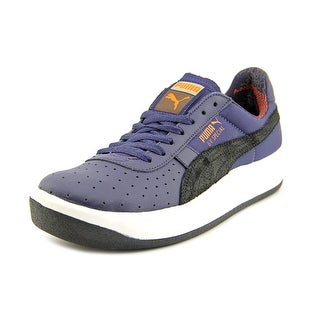Puma Gv Special Rugged Men  Round Toe Leather Blue Sneakers