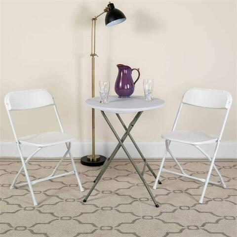 Folding chair white-5 pieces