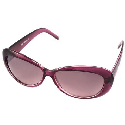 Lady Full Rim Wide Frame Outdoor Eyeglasses Eyewear Sunglasses Purple