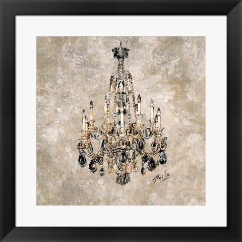 Marta Gottfried 'Champagne Chandelier' Framed Art