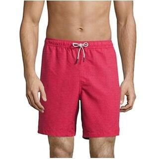 Michael Kors NEW Red Mens Size Large L Board Surf Polka-Dot Shorts