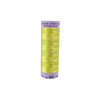 9075 9859 Mettler Silk Fin Cotton 50 109yd Multi Canary Yel