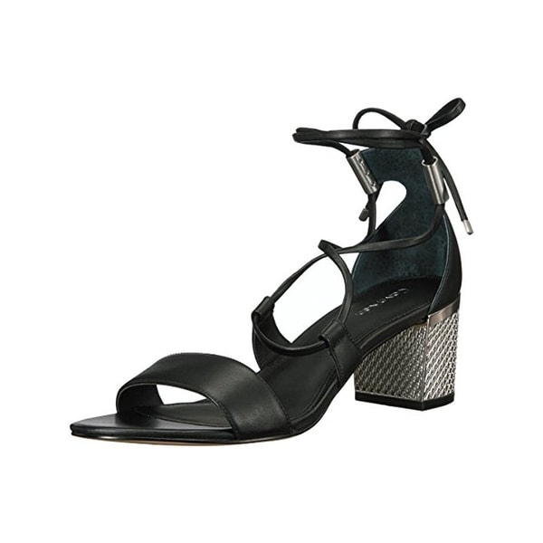 Calvin Klein Womens Natania Dress Sandals Open Toe Metallic