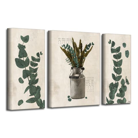 Olivia Rose 'Poetic Flora Set VI' Canvas Wall Art Set