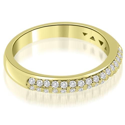 0.35 cttw. 14K Yellow Gold Elegant Round Cut Diamond Wedding Ring