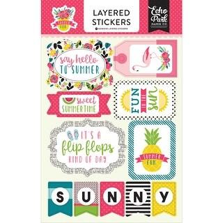 Summer Fun Layered Stickers-