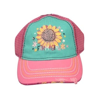 Farm Girl Western Hat Girls Embroidered Sunflower Pink F63088201