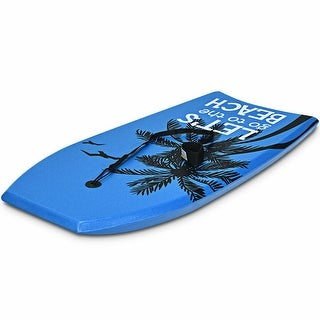 Super Lightweight Bodyboard Surfing with Leash EPS Core Boarding - Blue