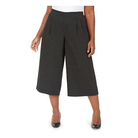 ANNE KLEIN Womens Black Polka Dot Wear To Work Pants Size 0X