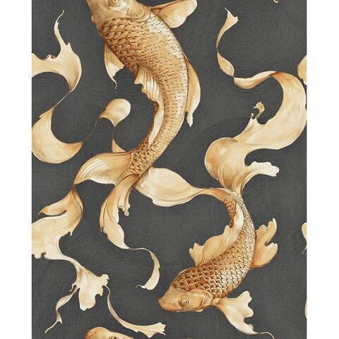 Seabrook Designs Koi Fish Unpasted Wallpaper