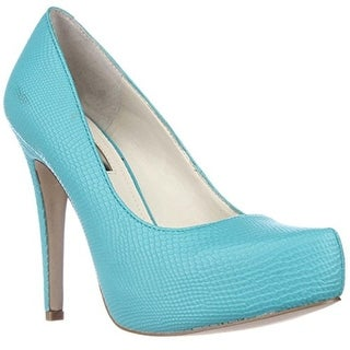 BCBGeneration Parade Platform Pumps - Bright Teal/Rumba Snake