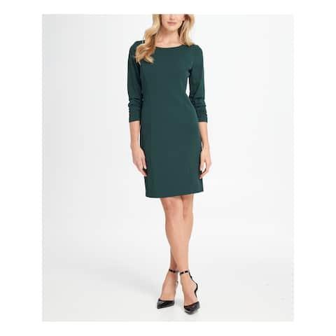 DKNY Green 3/4 Sleeve Above The Knee Dress 6