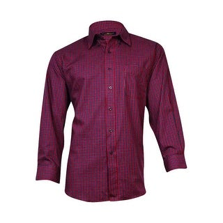 Club Room Men's Regular Fit Plaid Shirt (Red Makay, 17/32x33)