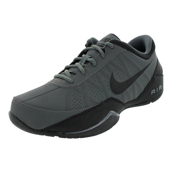 d8cecedfd3b Shop Nike Men s Air Ring Leader Low Dark Grey Black Basketball Shoe ...