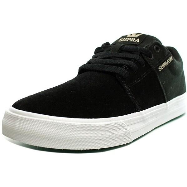 Supra Stacks Vulc II Men Round Toe Suede Black Skate Shoe
