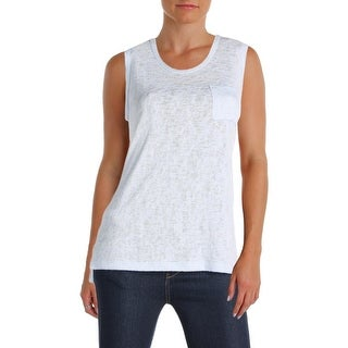 Michelle by Comune Womens Melrose Tank Top Sweater Open Stitch Sleeveless