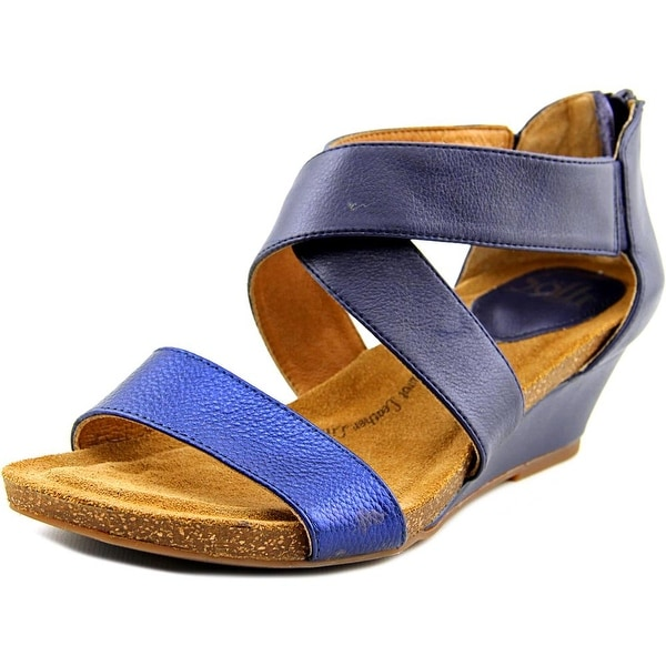 Sofft Vallar Women Open Toe Leather Blue Gladiator Sandal