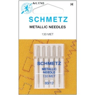 Metallic Machine Needles-Size 12/80 5/Pkg - size 12/80 5/pkg