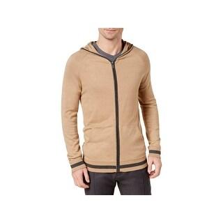 Ryan Seacrest Distinction Mens Hoodie Modern Fit Zip-Up