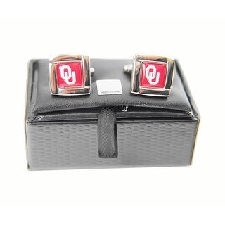 NCAA Oklahoma Sooners Square Cufflinks Gift Box Set