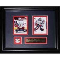 Midway Memorabilia Henrik Lundqvist New York Rangers 2 Card Frame