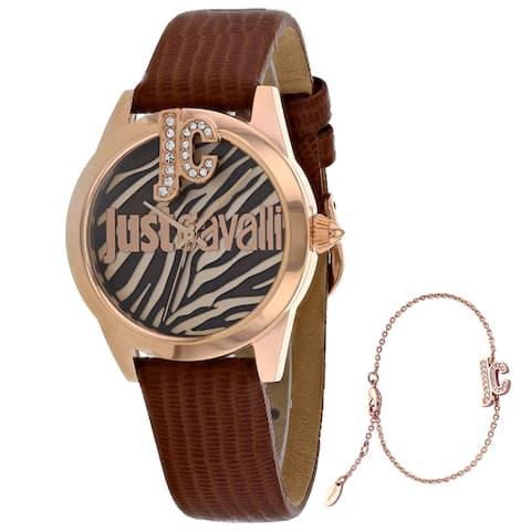 Just Cavalli Women's Just Trama Brown Dial Watch - JC1L099L0035 - One Size