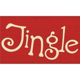 Home & More 12107 Coir and Vinyl Jingle Doormat