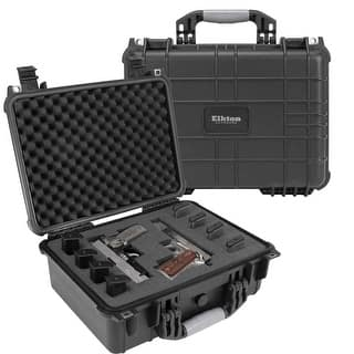 Elkton Outdoors Hard Gun Case: Fully Customizable Pistol Case: Holds 4 Handguns and 8 Magazines: Crush Resistant & Waterproof!|https://ak1.ostkcdn.com/images/products/is/images/direct/0970ffc0e5f9dd48cafdf767657c4a60b25f9d0c/Elkton-Outdoors-Hard-Gun-Case%3A-Fully-Customizable-Pistol-Case%3A-Holds-4-Handguns-and-8-Magazines%3A-Crush-Resistant-%26-Waterproof%21.jpg?impolicy=medium