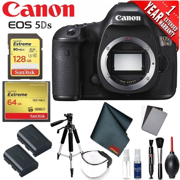 Canon EOS 5DS DSLR Camera (Body Only) International Version (No Warranty) Professional Photographer Bundle